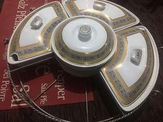 Ceramic Serving Plates/Piring Penyaji