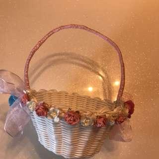 Flower basket for flower girl
