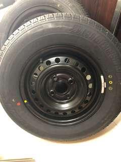 Spare Rim and tyre Honda city