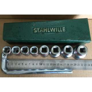 Hand Tool - Stahlwille 9 piece Socket Set BSW (Made in Germany)
