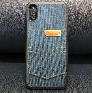 Demin Pocket Soft iphone X Case-Blue