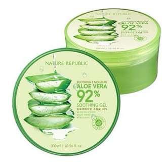 Nature Republic Aloe Vera 92% Soothing Gel - DIJAMIN ORI 100%