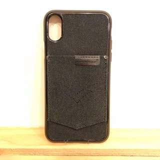 Demin Pocket Soft iphone X Case-Black