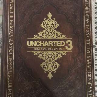 Collectors edition hardcover guide book for uncharted 3