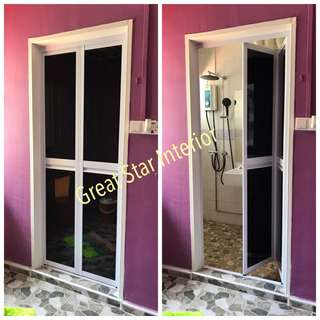 Alum bifold door