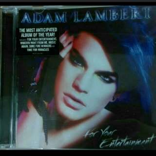 Adam Lambert - For Your Entertainment CD + Bonus DVD Album