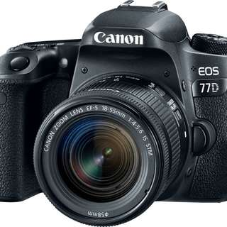 Canon 77D with kit lens
