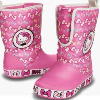 Crocs Hello Kitty Gust Boot - Childrens Boots 100% Genuine - Pink
