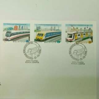 Modernisation of Rail Transport 1998 Malaysia First Day Cover