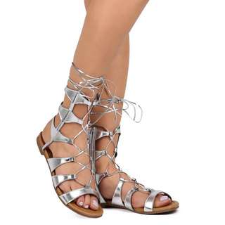New look lace up gladiator shoes