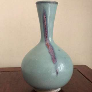 A Rare Purple Splashed Porcelain flared neck vase