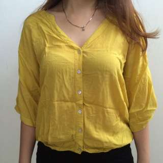 Blouse kuning, yellow mustard