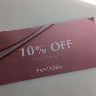 Pandora 10% off Coupon