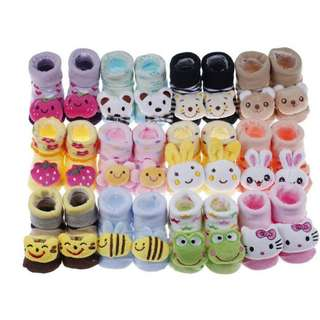 12 SET PER PACK Baby 3D socks set