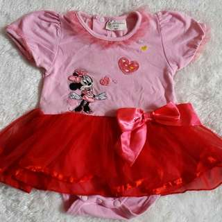 SAMGAMI Tutu Size80 Baby Girl Pink Jumpsuit anak bayi Minnie mouse cute