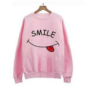 Smile sweater pink