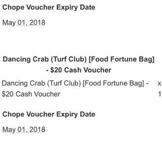 Dancing Crab $20 Voucher