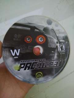Wii EA need for speed pro street