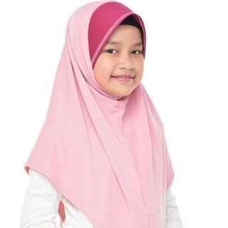 TUDUNG SARUNG KIDS AUNI SOFT PINK (XL)