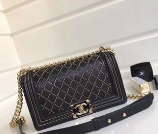 Chanel Chain Quilting Boy Medium Flap Bag
