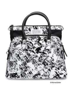 MAISON MARGIELA Printed coated shoulder bag