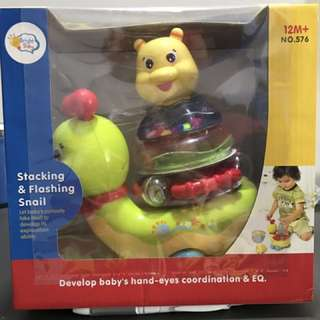 Brand new toy - Stacking and Flashing Snail (on discount)!