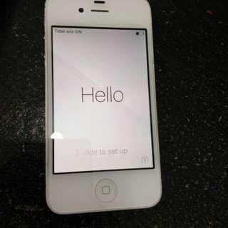 Iphone 4S white batangan lock Icloud lupa email