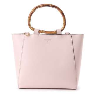 Japan Samantha Thavasa Colors By Jennifer Sky Bamboo Handle Tote Bag (Pink)