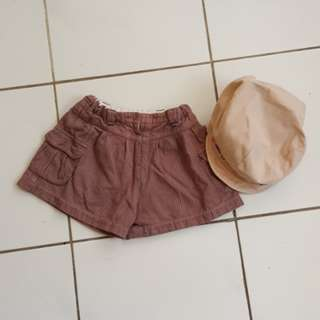 (2pcs for RM5) Toddler cap & girls short