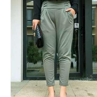 FLASH DEAL - Plus Size 4X GSS Criss Cross Harem OL Pleated Korea Pants