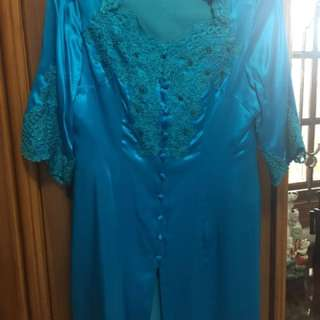 Blue kebaya top