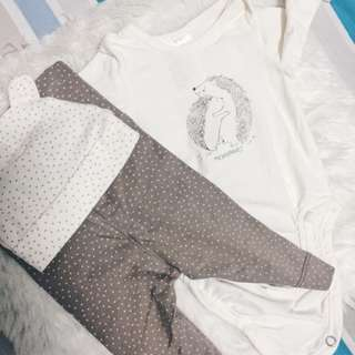 Pre-loved 3pcs baby outfit