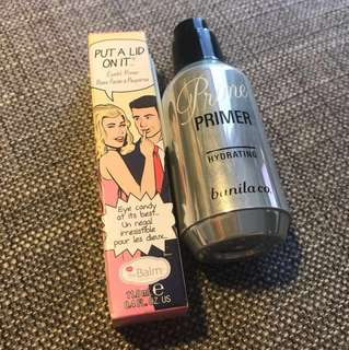 Eyelid primer and hydrating face primer as a gift