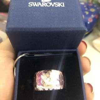 Swarovski pink crystal ring