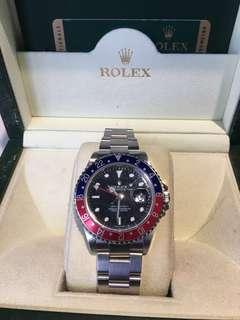 Fs: Ultra Rare Rolex GMT Master 2 stick dial 3186 movt