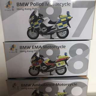 Tiny BMW 電單車套裝 (消防,警察,救護)
