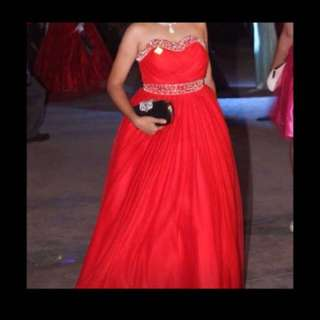 red gown for rent