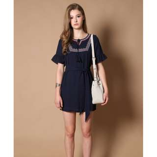 TSW - Sarah Bohemian Dress in Navy