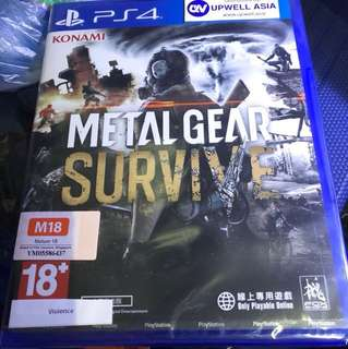 Metal Gear Survive PS4 (R3)