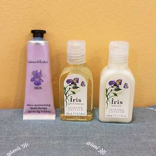 BRAND NEW Crabtree & Evelyn IRIS Series Body Lotion / Bath & Shower Gel / Ultra-Moisturizing Hand Therapy