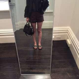 Glassons black frilly polka dot long sleeve