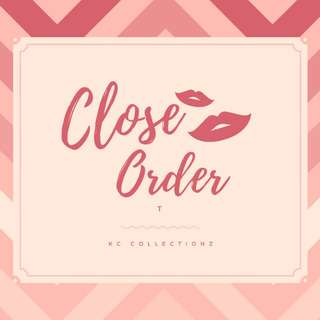 12/03/2018 TEMPORARY CLOSED FOR ORDER