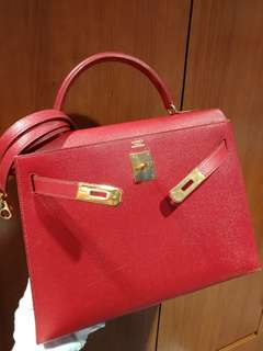 Hermes kelly 32 epsom red