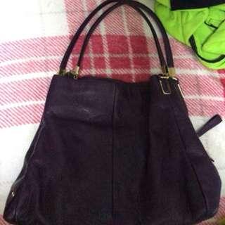 紫色 Coach 手袋