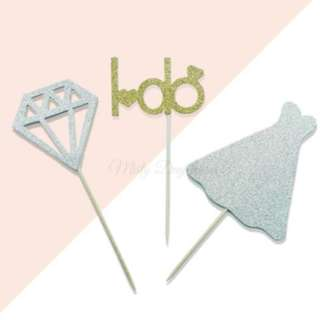 I do Wedding Cupcake Toppers 3pcs/pack