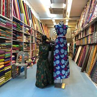 Silk fabric shop @107 Arab street