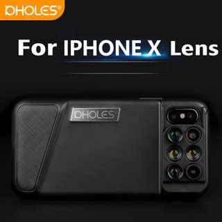 iPhone X 專用雙攝像頭廣角魚眼長焦微距手機外置鏡頭 手機殼 手機套
