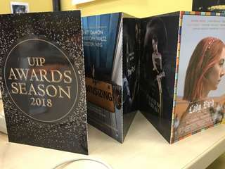 UIP Awards Season 2018 Post Cards