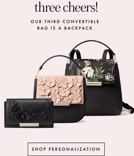 Kate Spade Make It Mine Convertible Bag Collection