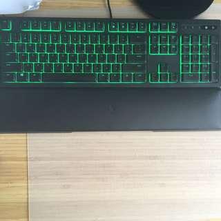 Razer ornata keyboard with couchin